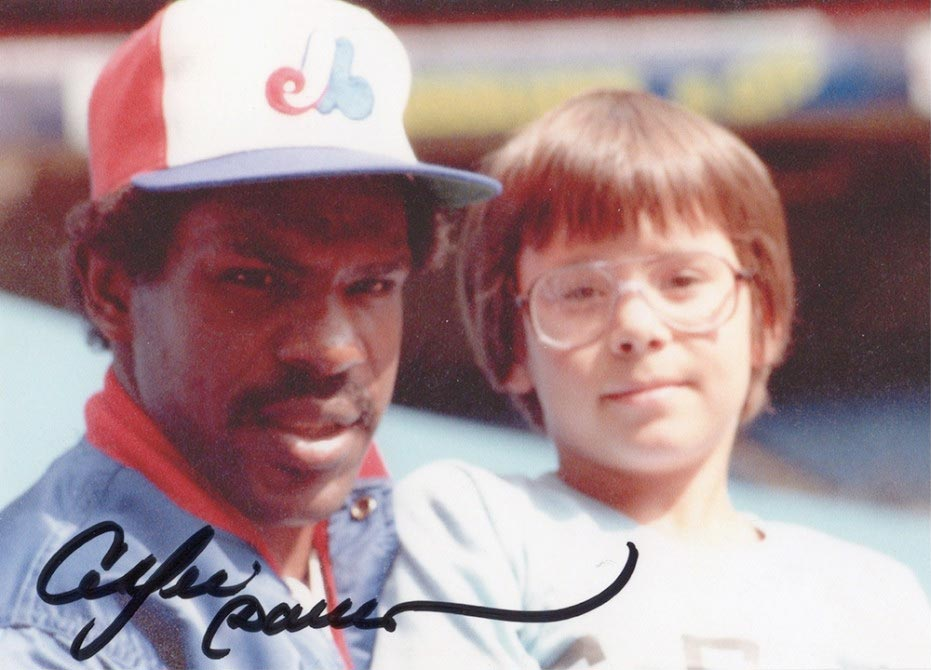 Warren Wilansky with Andre Dawson