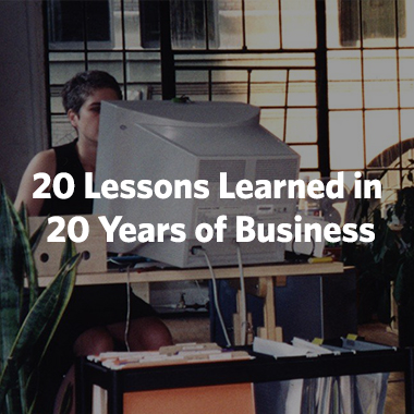 20 Lessons Learned in 20 Years of Business