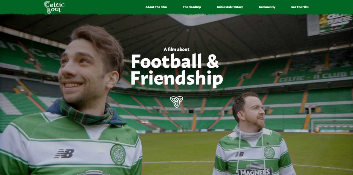 Screenshot of Celtic Soul website