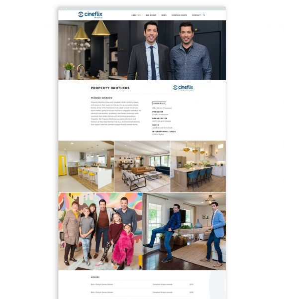 Cineflix Property Brothers Showpage