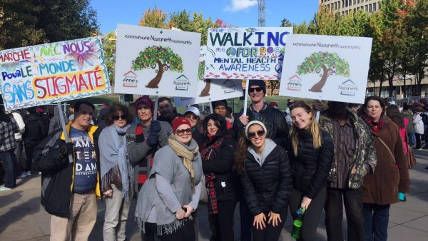 Nazareth Community walking for mental health awareness