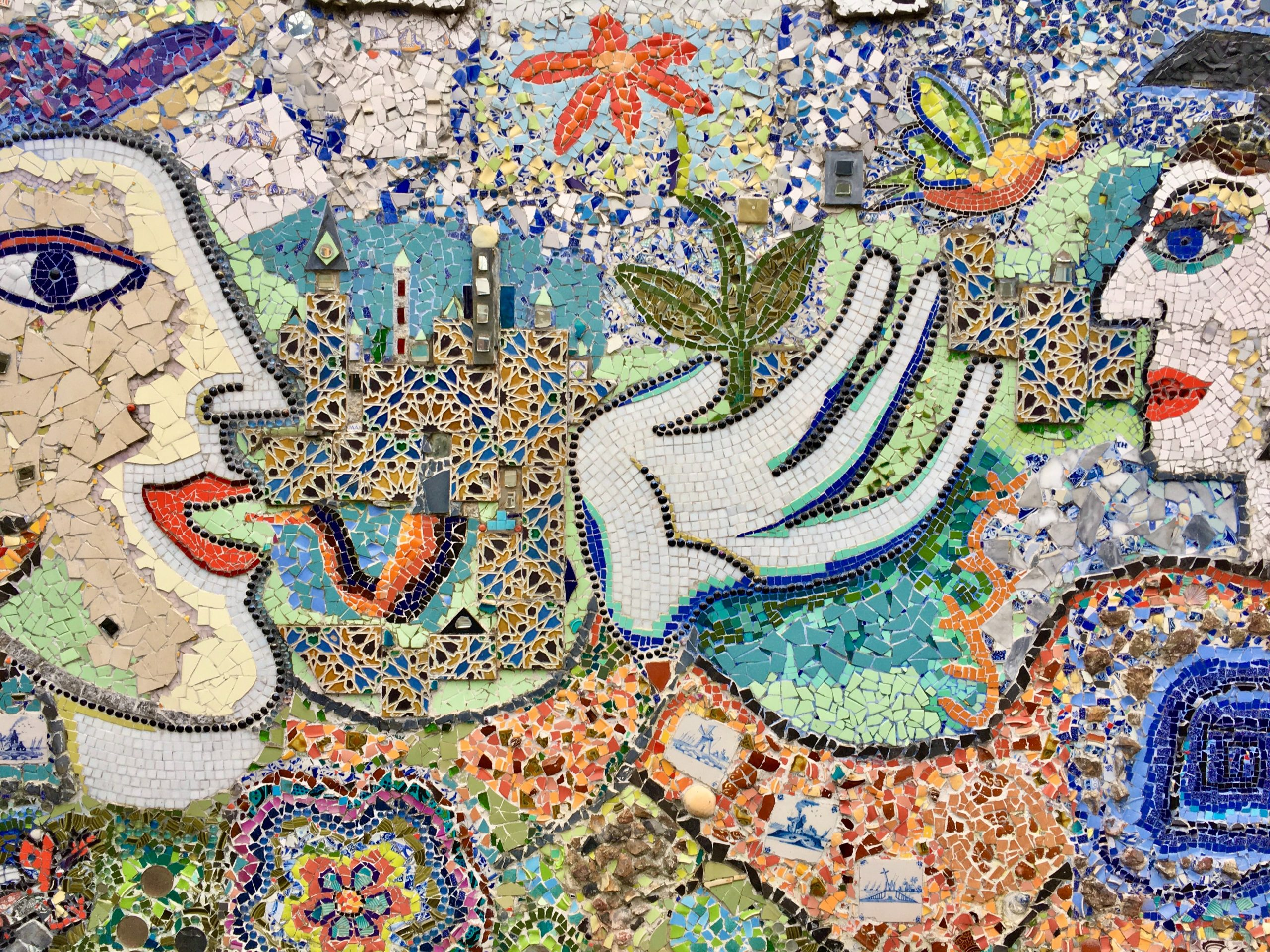 Mosaic of two people