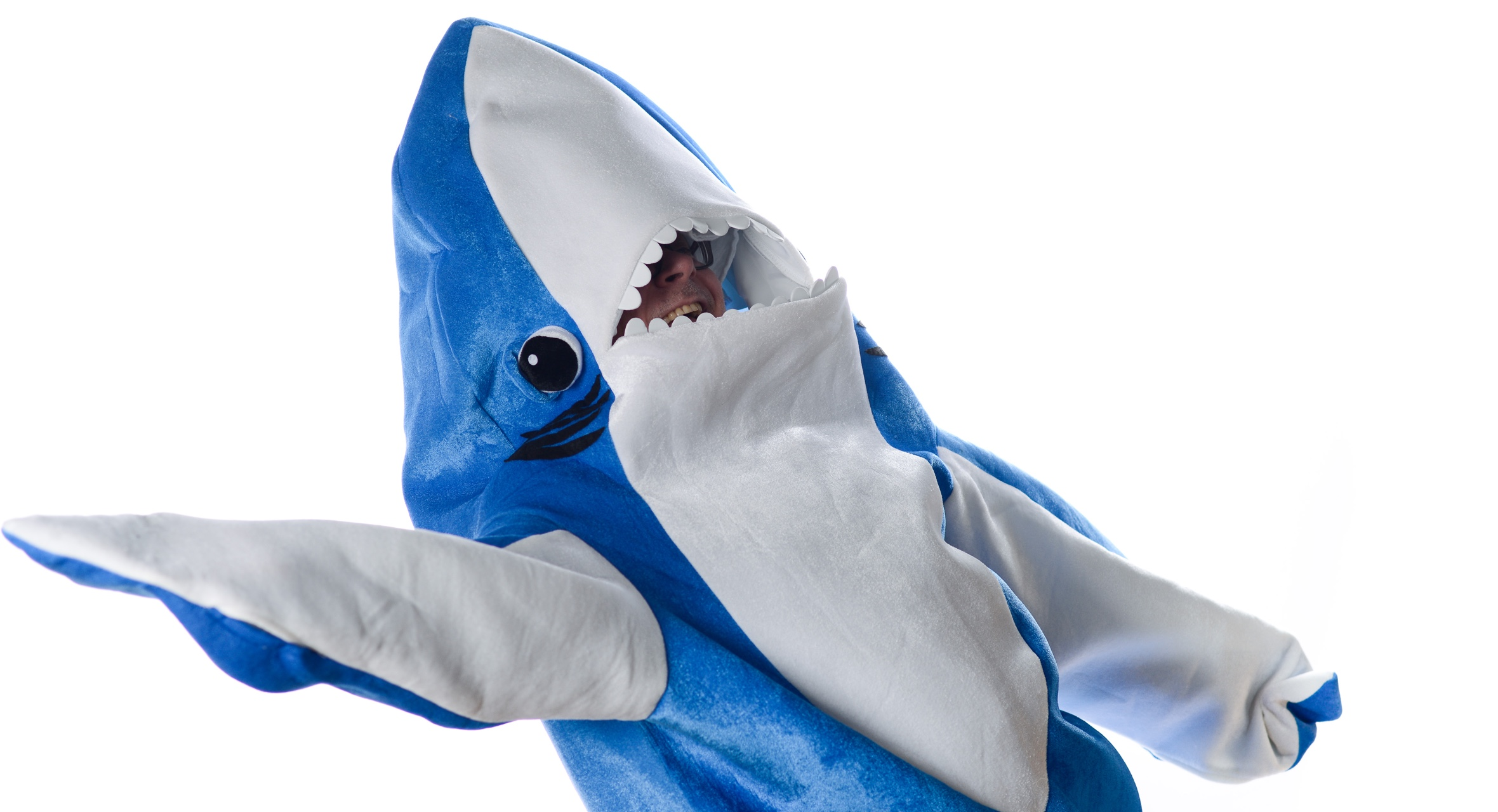 Warren Wilansky, Plank's Presindet & Founder, in a baby shark costume