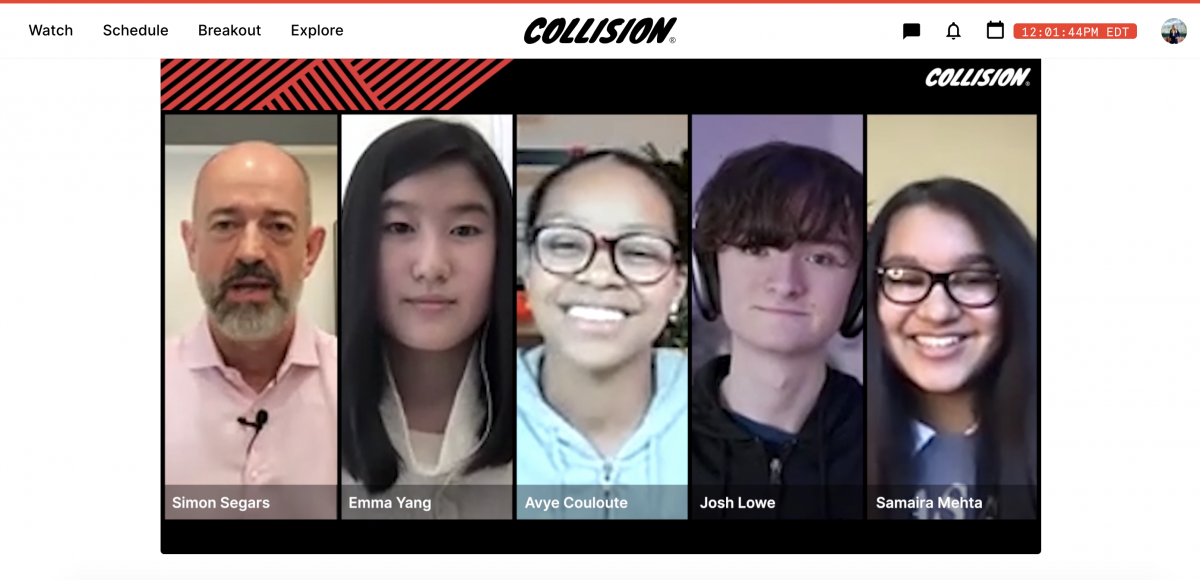 five individuals presenting at Collision 2021