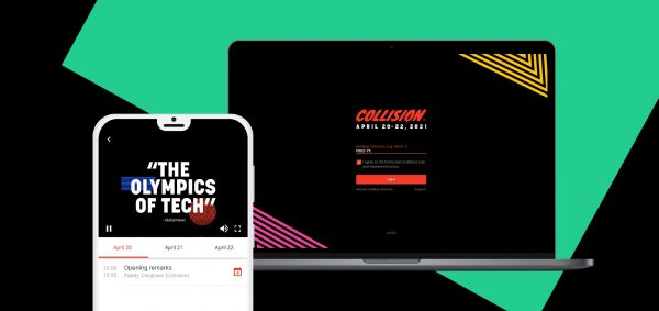 collision 2021 featured on a laptop and mobile